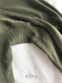 Rick Owens Plinth FW13 Long Sleeve Cropped Silk Top in Jade, US 6/ IT 40