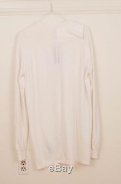 Rick Owens White DRKSHDW Long Sleeve T-Shirt Top Medium Totokaelo