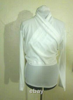 Romeo Gigli mainline Italy VTG'87 NWOT unworn 48 XL white gauze wrap top Iconic