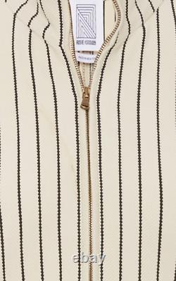 Rosie Assoulin Hans Yolo top dress New sz M cream striped
