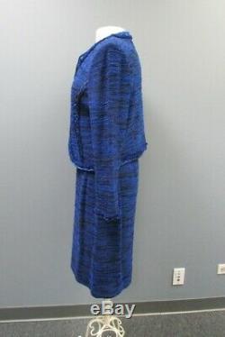 ST JOHN Blue Black Long Sleeve Top Hook Jacket Sz 14 Skirt Suit Sz 10 GG3616