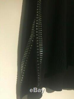 Sass & Bide Star Eyes Embellished Long Sleeve Black Knit Top Size L