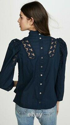 Sea New York Victoria Embroidered Puffed Long Sleeve Top Blouse SOLD OUT S XS