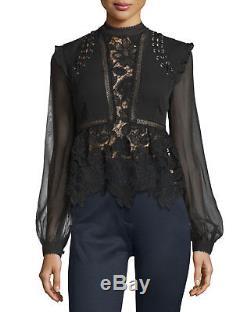 Self- Portrait floral lace long sleeve top US 8 NWOT