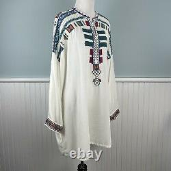 Size 2X Johnny Was Embroidered Velvet Boho Peasant Tunic Top Shirt Blouse NWT