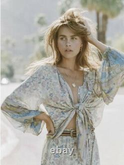 Spell & The Gypsy Collective Oasis Opal Button Down Blouse Top Sz M