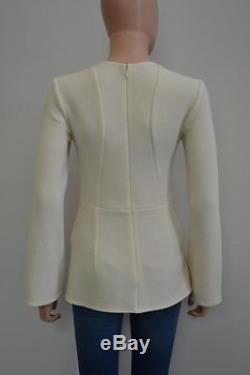 Stella McCartney Cream Wool Long Sleeve Blouse/Top Size 36