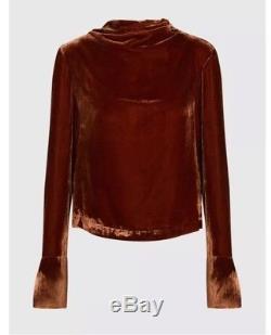 Stine Goya Copper Velvet Long Sleeve High Neck Top Co-Ord