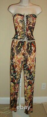 Stunning, Super Sexy, Crazy Rare, 3 Piece Jean Paul Gaultier Femme Pant Set