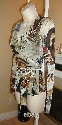 Stylish New Fuzzi Jean Paul Gaultier Multi-color Wrap Mesh Top