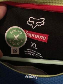 Supreme/Fox Racing Moto Jersey Top Longsleeve Multicolor XL 100% Authentic