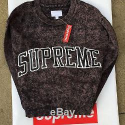 Supreme SS17 Acid Wash Arc Logo Longsleeve Top MEDIUM BLACK RARE IN HAND
