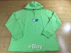 Supreme Striped Long Sleeve Hooded Top SS16 2016 Lime Green L Box Logo CDG TNF