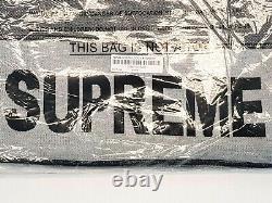 Supreme Tonal Stripe Logo Crewneck Black Size L Mens SS17 Top Long Sleeve