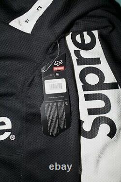 Supreme x Fox Racing Moto Jersey Top black 2018SS Size M