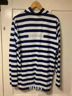 Supreme x Stone Island 1/4 Zip Long Sleeve Stripe Shirt SS16 Large