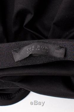 THE ROW Pepper Black Poet Long Sleeve Elastic Off Shoulder Shirt Blouse Top XS