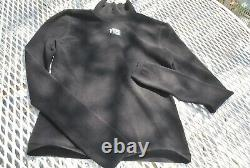 T by Alexander Wang Long Sleeve Turtleneck Bodycon Logo Top Black XS S $275