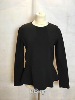 The Row Black Long Sleeve Top Size Uk12/us8