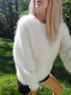 Top Choice! Super soft 80% Fuzzy Angora pullover sweater soft n Fluffy! M