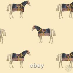 Tory Burch Equestrian Pony Top Blouse Silk Classic Horse Print 8 M L Runway Meg