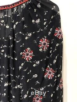 Ulla Johnson Long Sleeve LIDA Silk Floral Print Top 6 NWT $414