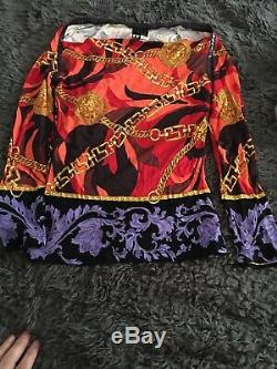 Used Authentic VERSACE Vintage Long Sleeve Tops Shirt