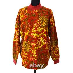 VERSACE Vintage Long Sleeve Tops Shirt Red #L Cotton Y03712g