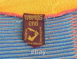 VIVIENNE WESTWOOD 1982 WORLDS END Orange tube knit top to stripe pirate short