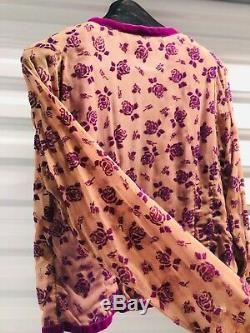 VOYAGE Invest in the Original Womens Long Sleeve Flower Top Purple Med