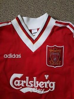 VTG 90S Liverpool 95-96 Home kit top Longsleeve SCALES #12 RARE Pristine