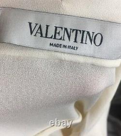 Valentino Blouse Ivory Silk Wrap Neck Tie Long Sleeve Size 4 NWT $2690