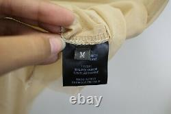 Vetements Sheer Stretch Organza Top Back Logo Shirt Long Sleeves Women's Medium