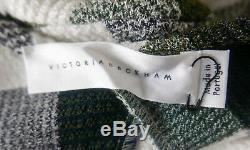 Victoria Beckham SS16 £900 Check Peplum Godet Long Sleeve Top UK6 NWT