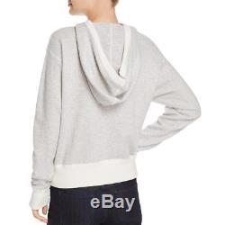Vince Womens Gray Wool Blend Long Sleeve Hoodie Sweater Top S BHFO 8036