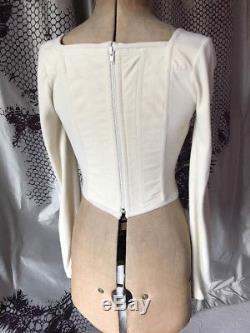 Vintage 90S Vivienne Westwood Archive Corset Boned Bustier Long Sleeved Top