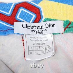 Vintage Christian Dior Rasta Raggae Denim Top/Skirt Set Size FR 38 RUNS SMALL