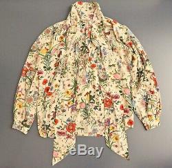 Vintage Gucci Blouse, mini flora Accornero long sleeve shirt top, 1970s women's
