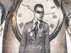 Vintage Jean Paul Gaultier AW03 Clock Man Tattoo Long Sleeve Mesh Top S Small