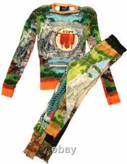 Vintage Jean Paul Gaultier S/S 1994 Mesh Top & Leggings Set L/M