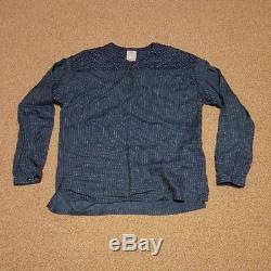 Visvim Men's Tops Tunic Long-Sleeved Shirt Indigo Dye Size 2