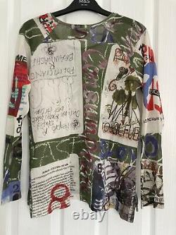 Vivienne Westwood Anglomania Warchild SS19 Long Sleeve Unisex Top Size M