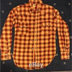 WESTERN RANCHMAN JOE McCoy Plaid Long-Sleeved Shirt Men's Tops Size 16