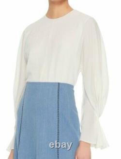 WOW! New Emilia Wickstead Dana stretch crepe blouse US sz 4 $905
