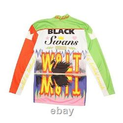 W< Walter Van Beirendonck Cycling Top Multicolor Black Swan A/W 1996 Size M