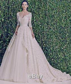 Wedding dress dresses made to measure white ivory Jessica long lace sleeves top