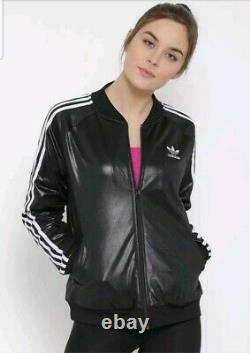 Women's Adidas Originals Trefoil Logo Supergirl Wetlook Track Jacket