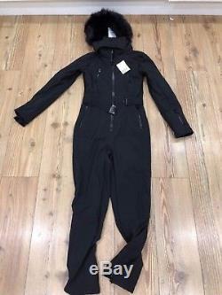 Women's SNO Black Long Sleeve Ski Snowboard Suit by TOP SHOP size uk8 brand ne