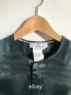 YOHJI YAMAMOTO Ys / Green Mesh Tie Dye Illusion Long Sleeve Top