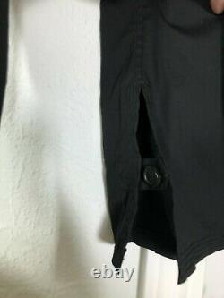 YSL VTG Tom Ford Black Cotton Lace Up Long Sleeve Pocket Shirt Blouse Top 36/2